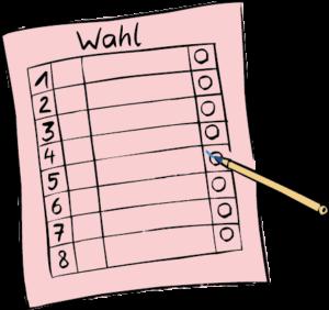 Ein Stimm-Zettel